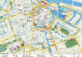 with scale amsterdam top tourist attractions map amsterdam map