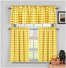Plaid Kitchen Curtains Valances Kitchen Kitchen Window Treatment Best Yellow Kitchen Curtains
