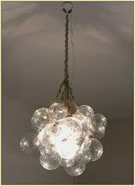glass bubble chandelier diy home design ideas