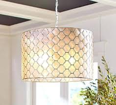 drum pendant pottery barn regarding light fixture remodel capiz flush mount fl with regard to decorations 6