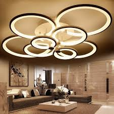 cool indoor lighting. Ring Shape White Finished Chandeliers, LED Circle Modern Ceiling Hanging Lamp Light For Living Room Cool Indoor Lighting