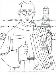 Catholic Coloring Page Catholic Saint Coloring Pages All Saints Day