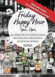 Katuk Friday Happy Hour Katuk