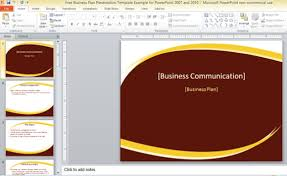 ppt business plan presentation free business plan presentation template for powerpoint 2007 and 2010