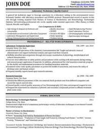 Resume CV Cover Letter  veterinary technician sample resume       Lab Technologist  Quality Control  Resume samples