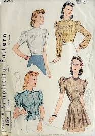 Vintage Simplicity Patterns New 48s LOVELY Blouse Set Simplicity Pattern 48 Bust 48 Vintage Sewing