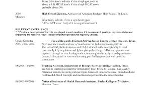 Undergraduate Resume Template College Application Sample Format
