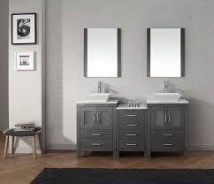 Vanity Cabinets For Bathroom Virtu Usa Dior 66 Double Bathroom Vanity Set In Zebra Grey