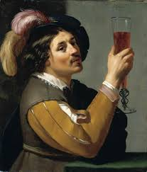 file jan van bijlert young man drinking a glass of wine wga02184