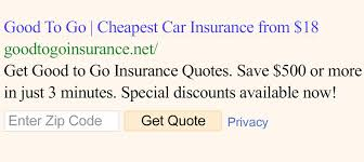 Go Auto Insurance Quote New GoodToGoInsurance Car Insurance From 48