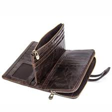 <b>Weduoduo New</b> Men Wallet <b>Genuine Leather</b> Men'S Long Clutch ...