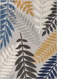 well woven dorado mariah modern tropical leaves grey indoor outdoor area rug contemporary outdoor rugs by well woven