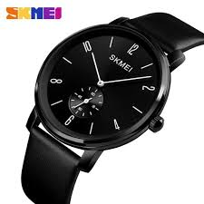 skmei new men fashion quartz watches business simple leather watch waterproof wrisches 1398 malaysia