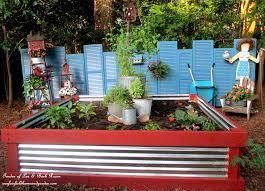 wood corrugated metal raised garden bed