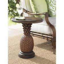 tommy bahama alfresco living patio pineapple side table in brown