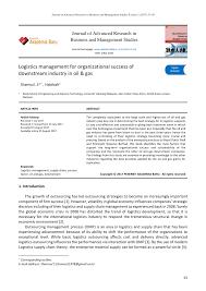 Pdf Logistics Management For Organizational Success Of