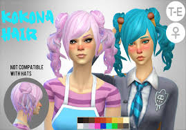 Image result for sims 4 ponytail cc   Sims 4, Sims 4 anime, Sims