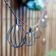 outdoor fairy lighting. 10 elwood cage led solar fairy lights outdoor lighting