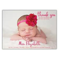 Thank You Birth Announcement Brown Paper Studios