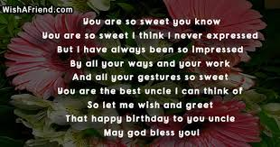 birthday poems for uncle