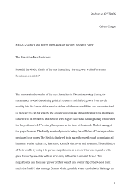 mhis major essay final copy 1 student no 42779006 callum craigie mhis322 culture and power in renaissance europe research paper