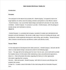 Website Proposal Letter Business Proposal Template Free Word Pdf Documents Download Sample