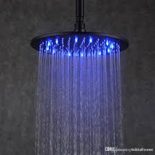 black rain shower head 12 inches led overhead shower brass round rainfall shower head from china dhgate com