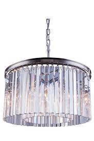 sydney polished nickel pendant lamp clear crystal zoom