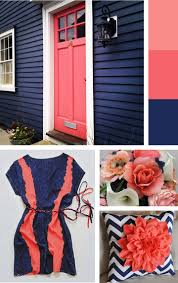 Coral Color Combinations Love These Inspiration Pics Blue And Coral Bedrooms Color Schemes