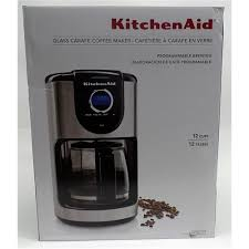 kitchenaid 12 cup coffee maker more views kitchen aid kcm111ob 12 cup glass carafe coffee maker