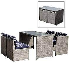 5 piece rattan wicker furniture set