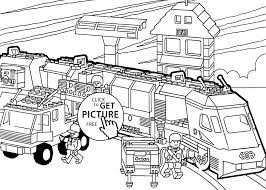 Lego Sports Coloring Pages New Lego Train Coloring Page For Kids