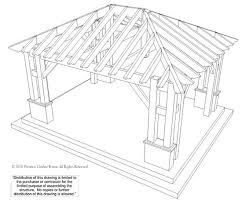 22 x24 hip roof pavilion w integrated