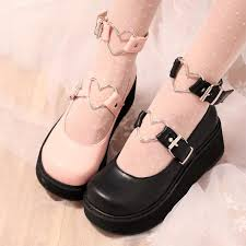 Color Pink White Black High Heel 5 8cm Size Eu34 Eu35