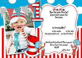 1st Birthday Party Invitation Template Dr Seuss 1st Birthday Invitation Template Update 1st