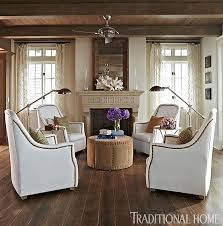 Traditional Chairs For Living Room Four Grand Scale Verellen Linen Chairs Make A Perfect Conversation