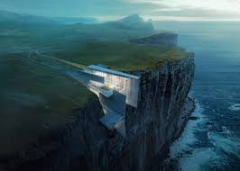 7 of 7 cliff top retreat by alex hogrefe of visualizing architecture conceptual concrete architecture