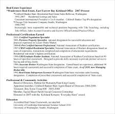 Real Estate Agent Resume No Experience Real Estate Agent Resume ...