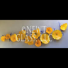 decorative glass wall art plates