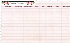 How To Compare Colleges College Evaluation Compare Colleges Spreadsheet College