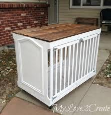 repurpose furniture dog. MyLove2Create: Repurposed Crib Into Dog Crate Repurpose Furniture