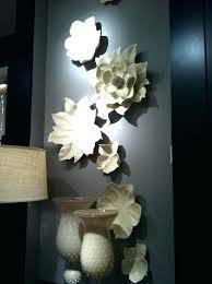 ceramic wall flowers art target white flower uk threshold sculpture