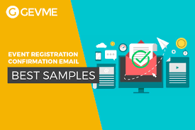 list of the best registration confirmation email sles