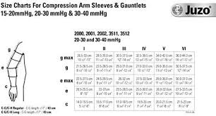 Juzo Compression Sleeve Size Chart Juzo Soft 2001cg Armsleeve 20 30mmhg W Silicone Top Band Model 2001mxcg Max Size I Extra Small Length R Regular Color Beige 14