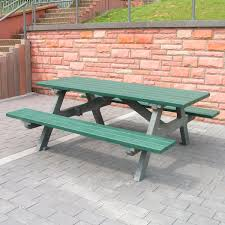 table recycled materials. Contemporary Picnic Table / Recycled Plastic Made From Materials Rectangular - SERENGETI T