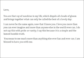Romantic Love Letters For Her Him Sample Letter To My
