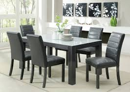 grey leather chairs dining room