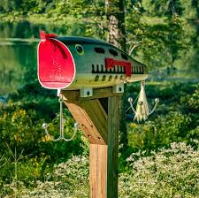 Unique Bass Mailbox Outside Home Design Styling