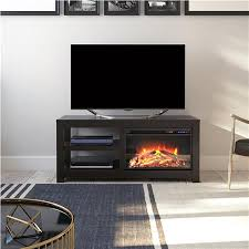 parsons electric fireplace tv stand for tvs up to 55 espresso