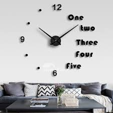 oversized wall clock decorative mirror creative acrylic gold black silver